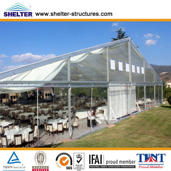 Event gathering catering tent marquee clear windows