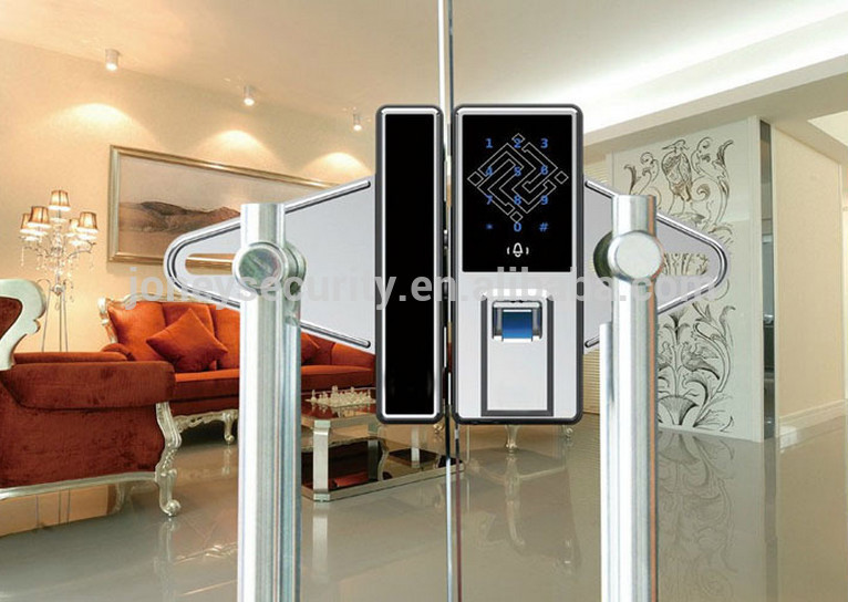 Home Fingerprint Smart Card Door Lock For Glassdoor 12mm