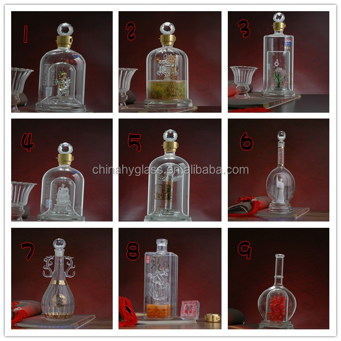 Factory Made Wholesale Classic Custom Whiskey Glass Bottle,vodka,whiskey,liquor glasses