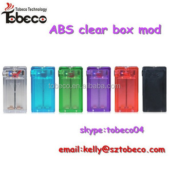 Tobeco 2015 colorful ABS clear box mod blue/green/purple/red/black ABS box mod amazing box mod