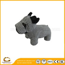 Decorative Door Draft Stopper Black Mangy Dog Stuffed Plush Toy Door stop