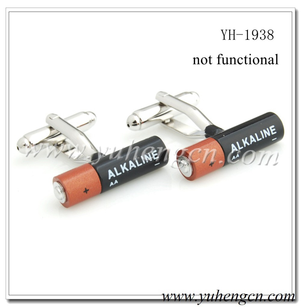 YH-1938 Novelty Battery Tool Cufflinks
