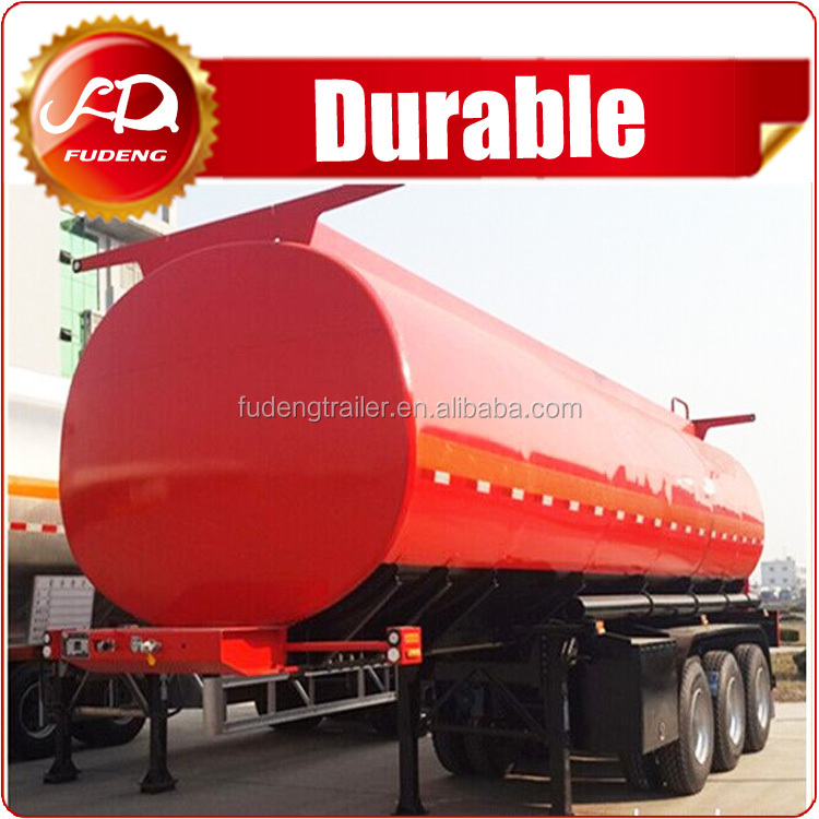 European type tri-axle 50000 liters fuel tank semi trailer for the transportation of oil,petrol and so on