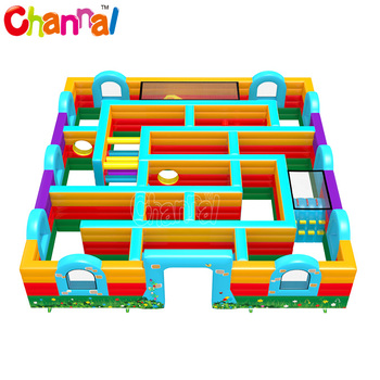 Colorful inflatable maze for sale