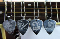 free express shipping wholesale Guitar Pick Necklace Ball Chain Silver Color Stainless Steel High Quality Guitar parts