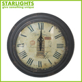 Hot Sale for home decoration Metal Antique Wall Clock