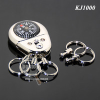 Novelty Detachable Keyrings Promotion High Quality Metal Compass Key Rings