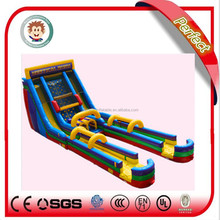 Attractive and cheap inflatable dounle lane slip slide