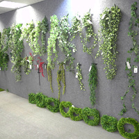 50CM Ivy artificial green leaves making wall hanging green vine