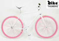 700C Pink Rims Single Speed Track Bike