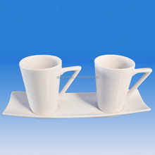 Hot selling factory direct wholesale porcelain plain white coffee cups and saucers