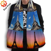 special newest modern heat transfer printing scarf and shawl