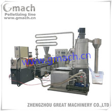 Underwater granulation line for twin screw granules making extrusion line