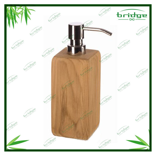 Wooden liquid soap dispensers
