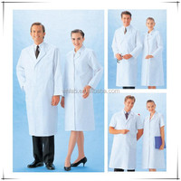 High Quality doctor coat LAB-CL-04 white overalls CVC surgical uniform