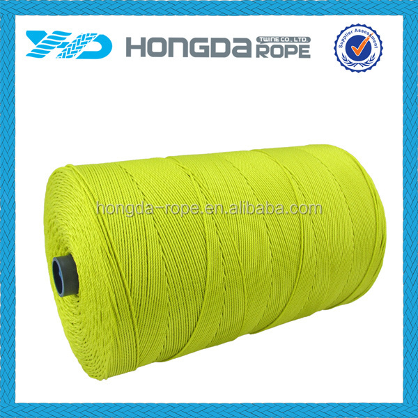 100% darcon / polyester tying twine 1.5mm yellow