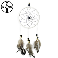 >>>Beautiful Dream Catcher hand-woven Dreamcatcher with white feathers for home wall decorations