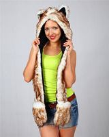 Design useful High quality faux fur animal trapper winter hood hat