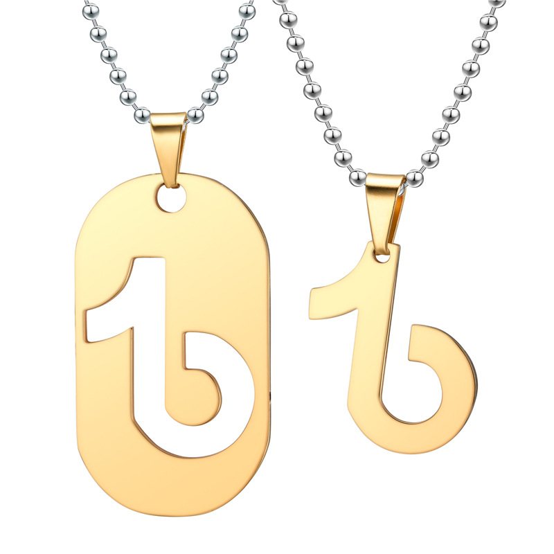 Fashion Design Hot Selling Creative Stainless Steel Couple Jewelry Necklace