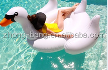 White Summer Lake Swimming Water Pool Kids Rideable Swan Inflatable Float Toy