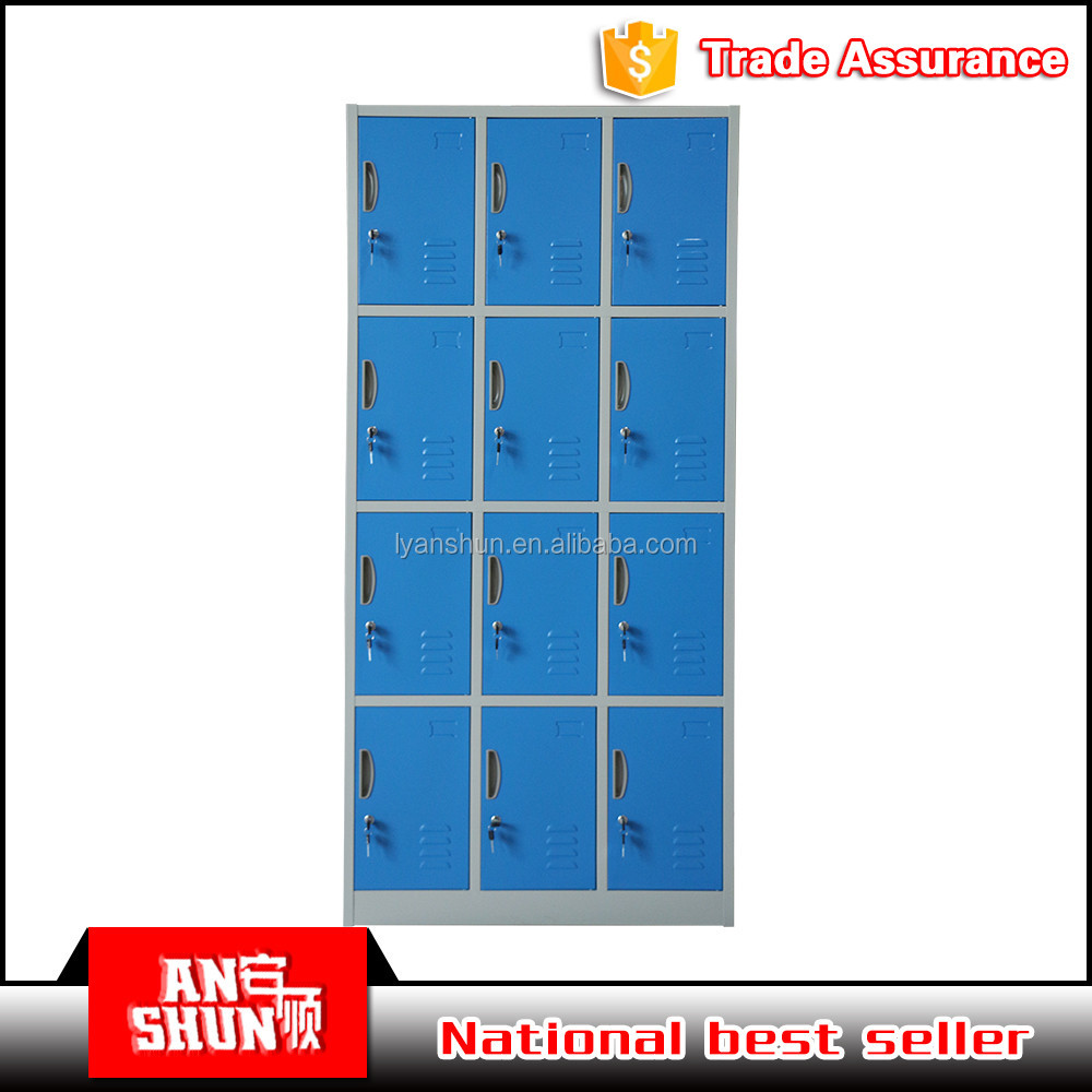 new style KD Steel clothes 12 doors bench locker