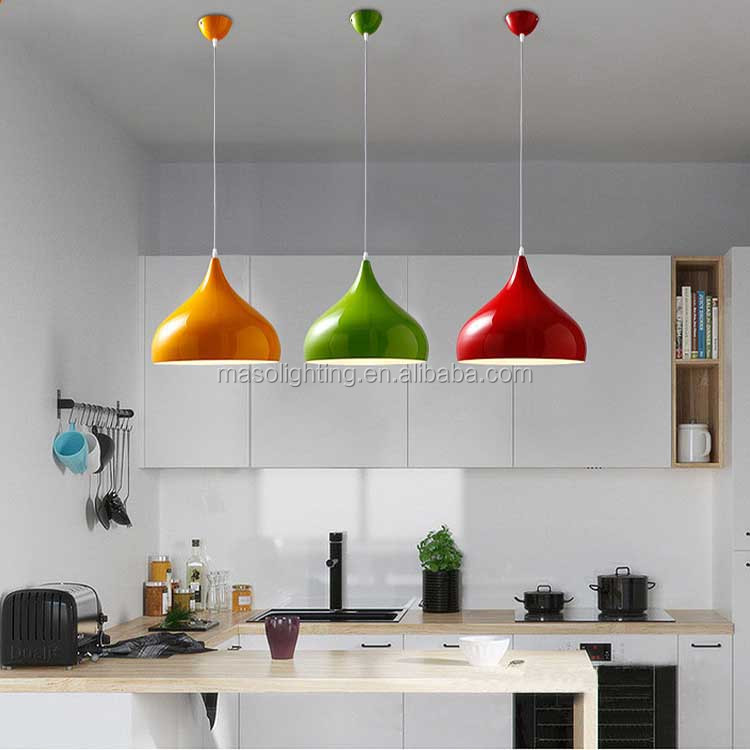 Simple Fashion Novelty colorful Pendant Lamp Nordic Modern Cast Iron Resturant Ceiling Light Fixture for Coffee Home decoration