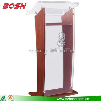 High quality Wood Podium with Acrylic Panel & Surface, Custom Artwork