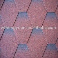 Mosaic asphalt roofing tiles(China red)