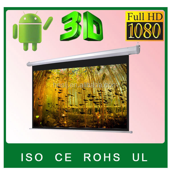 "Home theatre 100"" Motorized projection screen/Motorized projector screen/Motorized beamer screen"