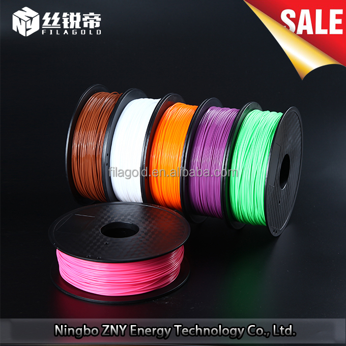 Plastic printing material 1.75mm 3.0mm pla 3d printer filament for industry model
