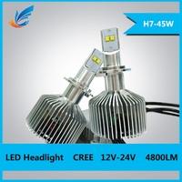 NEW 45W 3000lm h7 auto lamp h4 h8 h9 h11 led headlight bulb