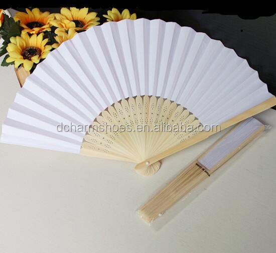 With nice logo wedding paper fans