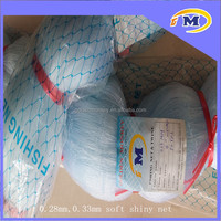 0.28mm,0.33mm shiny soft nylon monofilament fishing net