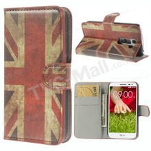 Retro Union Jack Flag Case Wallet Leather Card Slot Cover Case for LG G2 Mini