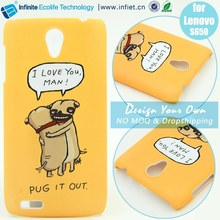 One pcs custom rubber soft gel tpu back cover case for Lenovo S650