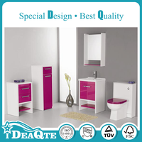 Customized LED Solid MDF Bathroom Furniture Cabinet