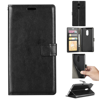 leather case For Xiaomi Redmi Note 4, Black Cell Phone back shell Magnetic Flip Leather Stand cover case