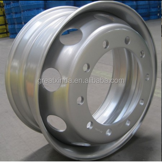 truck wheel rims 8.25X22.5 with ISO DOT ECE Ts16949 and TUV certificates,nice painting and strong welding part