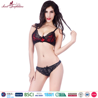 hot sexy black lace erotic lingerie underwear ladies sexy bra t-back