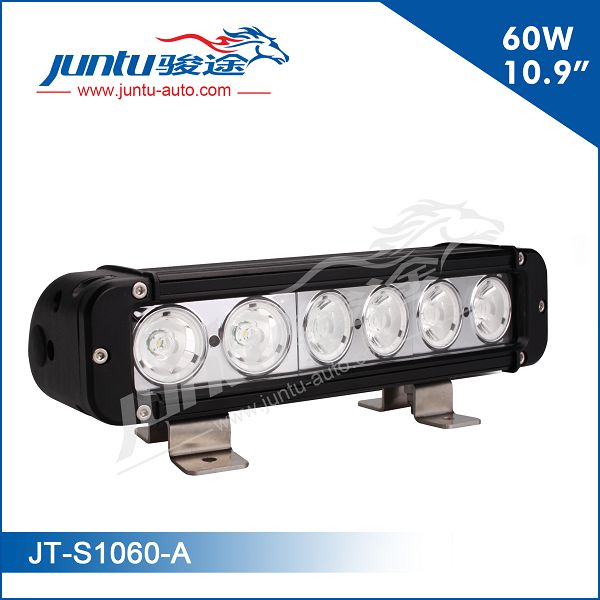 "60W 10.9"" CREE LED chip single row 4x4 LED light bar; offroad light bar"