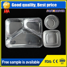 different shapes disposable aluminum foil container/tray/lunch box with lid