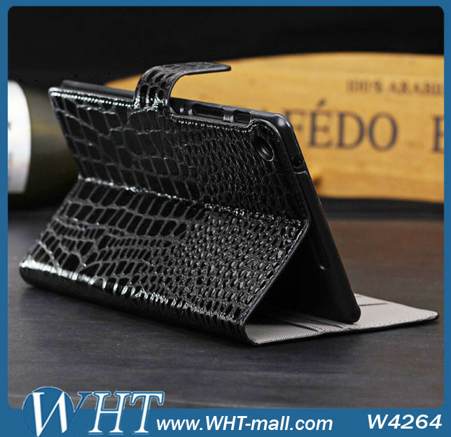 Crocodile Leather Wallet Case For Google Nexus 7 2nd Generation