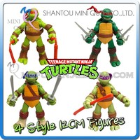MINI QUTE 12cm Teenage Mutant Ninja Turtle Japanese anime figures/action figures scale models brinquedos boys toys NO.MQ 117