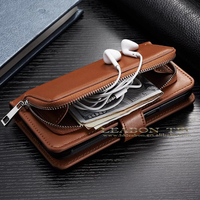 With Credit Card Slot Wallet Leather