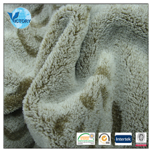 House Textiles Fabrics Back Cutting Motif Coral Fleece 100 Polyester Microfiber Fabric