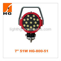 7 inch 51w cree 4x4 offroad led working light for Atv Motorcycle Mini jeep Boat truck vehicles Trailer