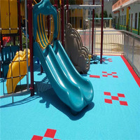 Safety Outdoor kids play area flooring