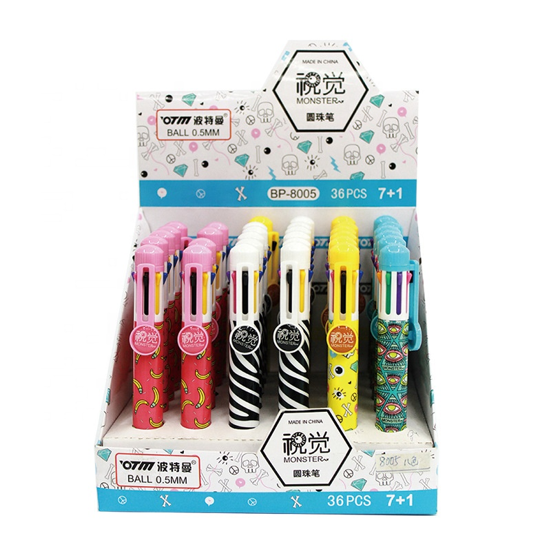School kids cartoon banana plastic multi color ballpoint pen <strong>for</strong> hot <strong>sale</strong>