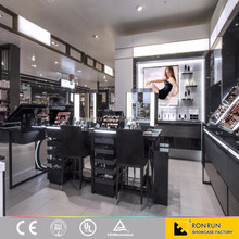 RCF1001 Shopping plaza inside make up kiosk design, cosmetics display kiosk design, cosmetics retail counter