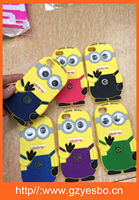 Cartoon 3D silicon cases cover for iphone 4 5 6 6plus silicone cell phone case